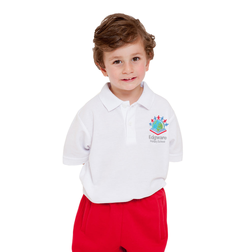 Edgware Primary White Polo Shirt