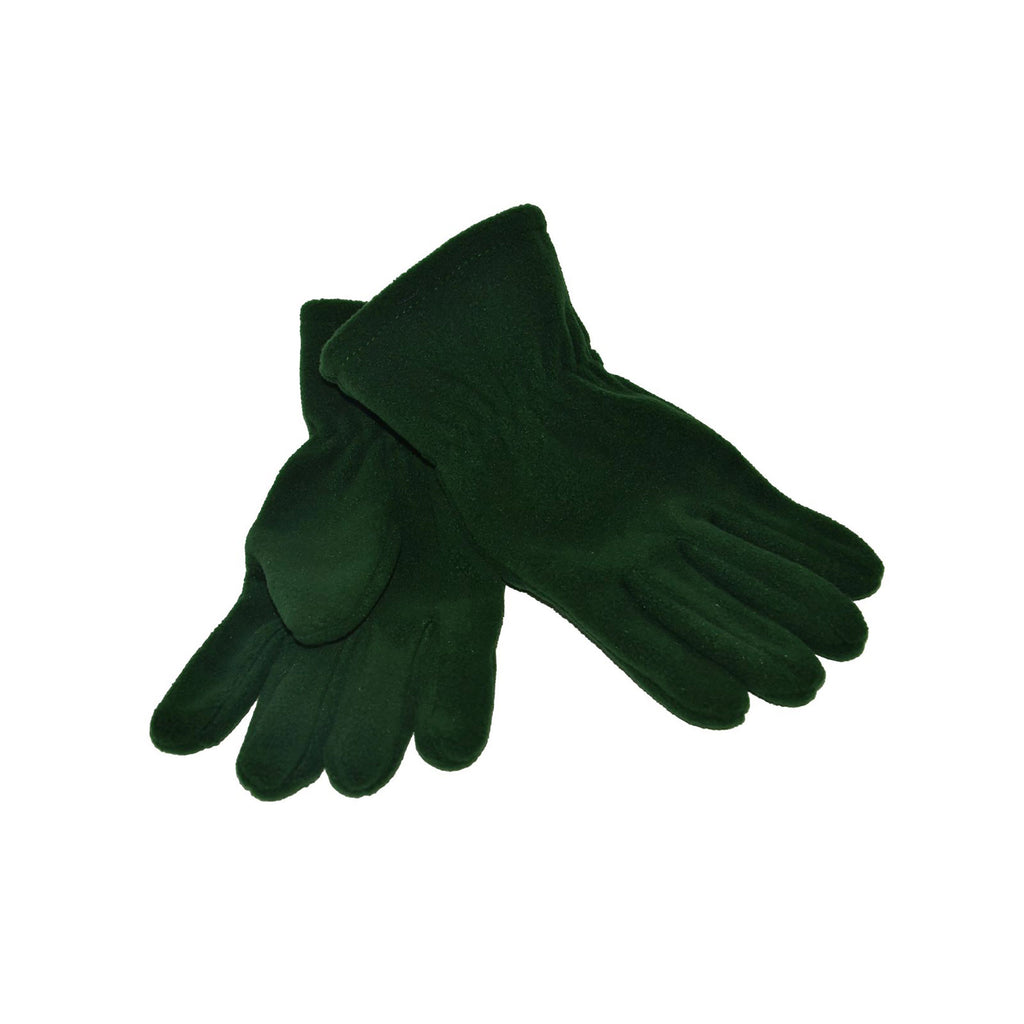 Bottle Green Fleece Gloves