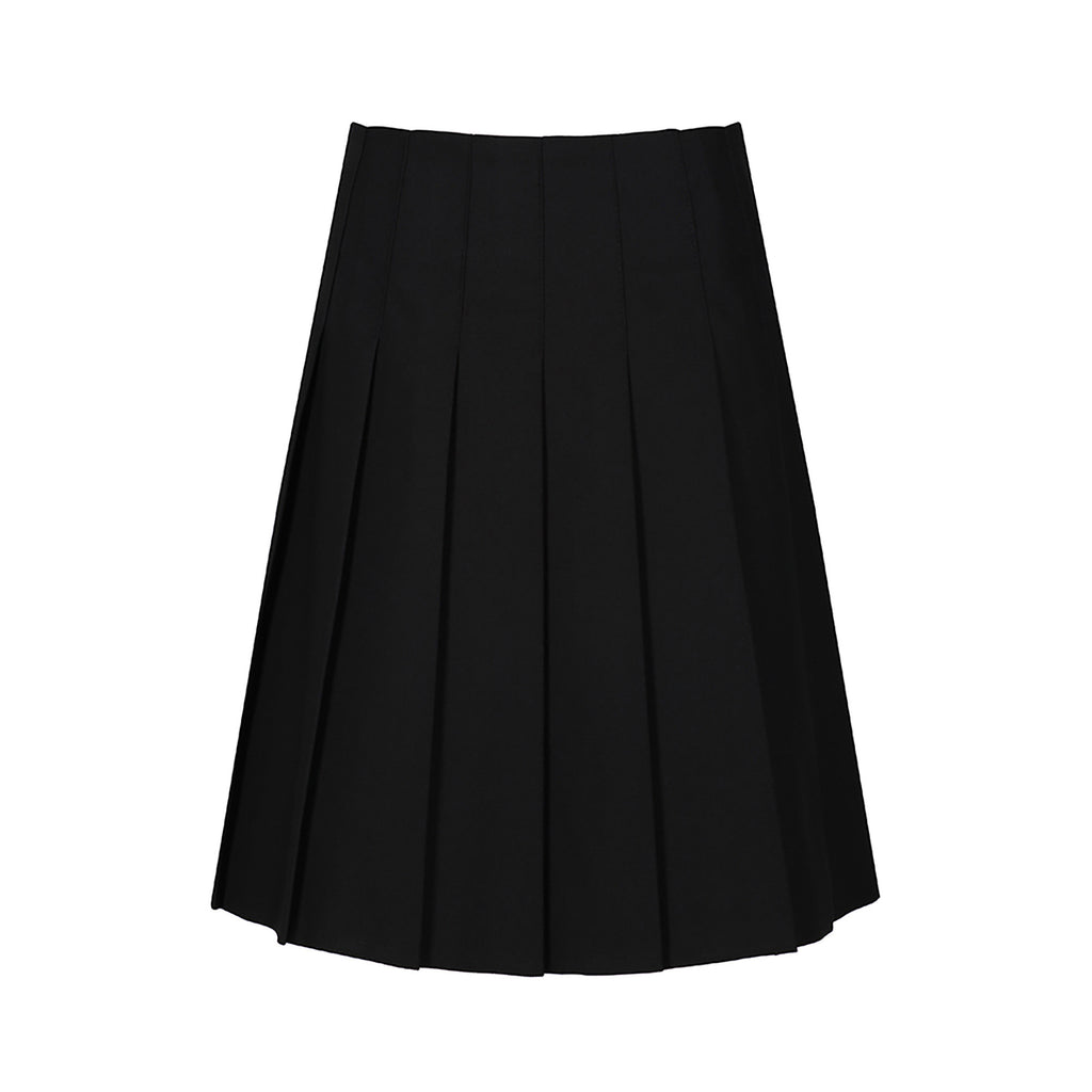 Black Stitch Down Pleat Skirt