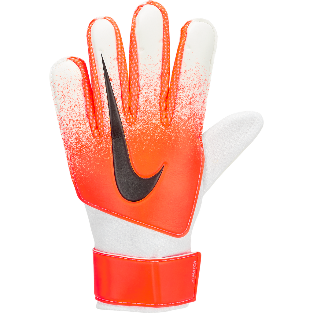 Nike Junior Match Goalkeeper Kids' Football Glove White/Hyper Crimson