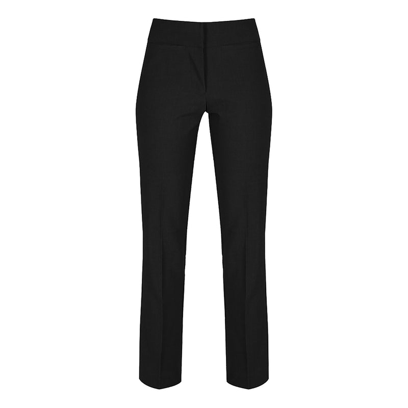 Black Senior Girls Bootcut Trousers