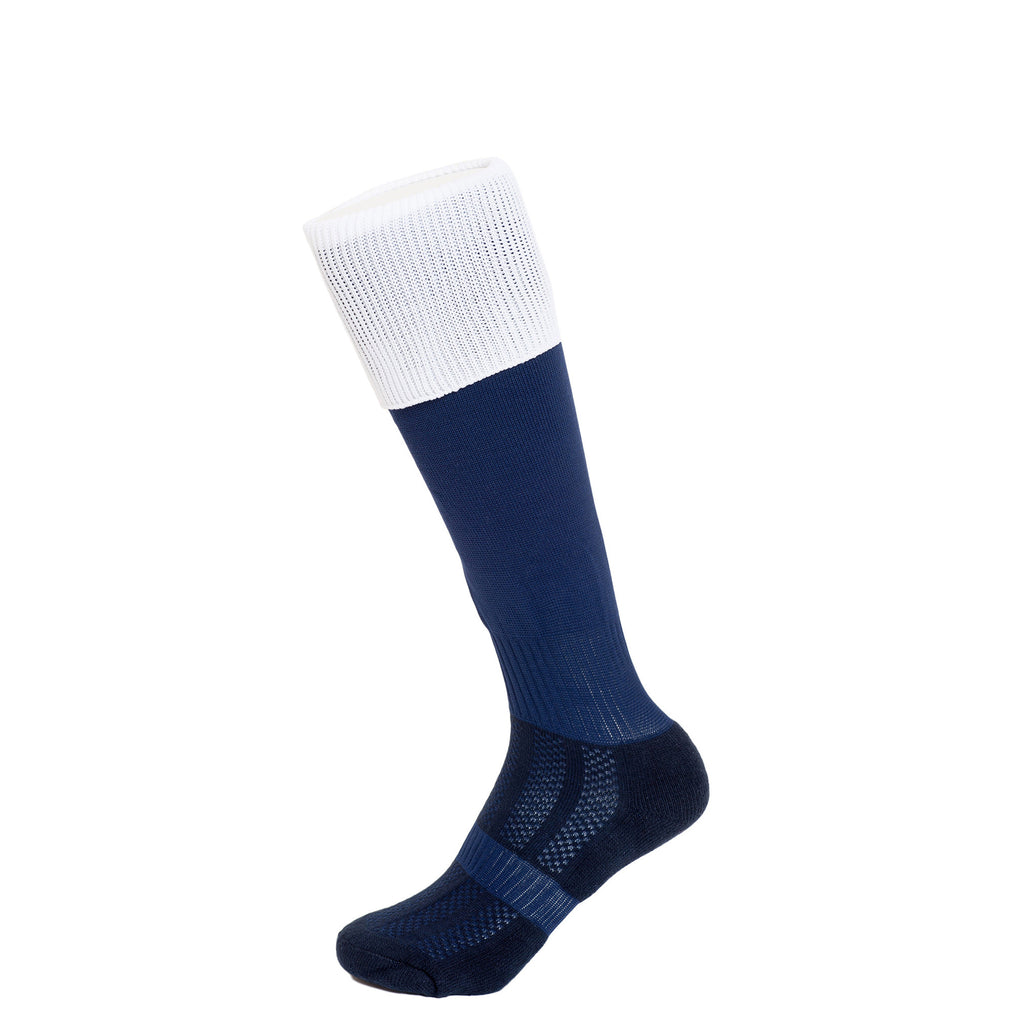 Navy/White Football Socks