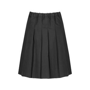 Grey Stitch Down Pleat Skirt