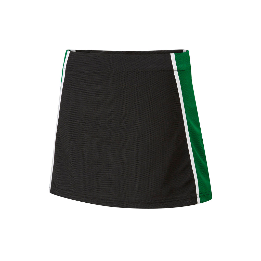 Black/Emerald/White Skort