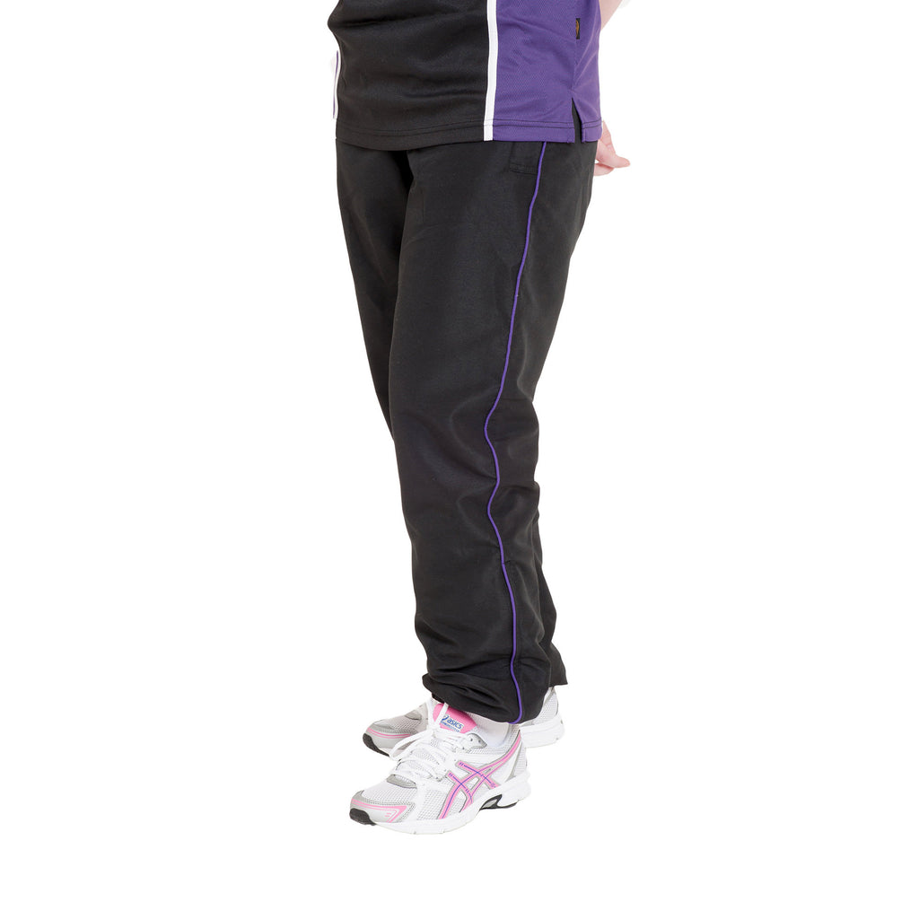 Black/Purple Tracksuit Bottoms
