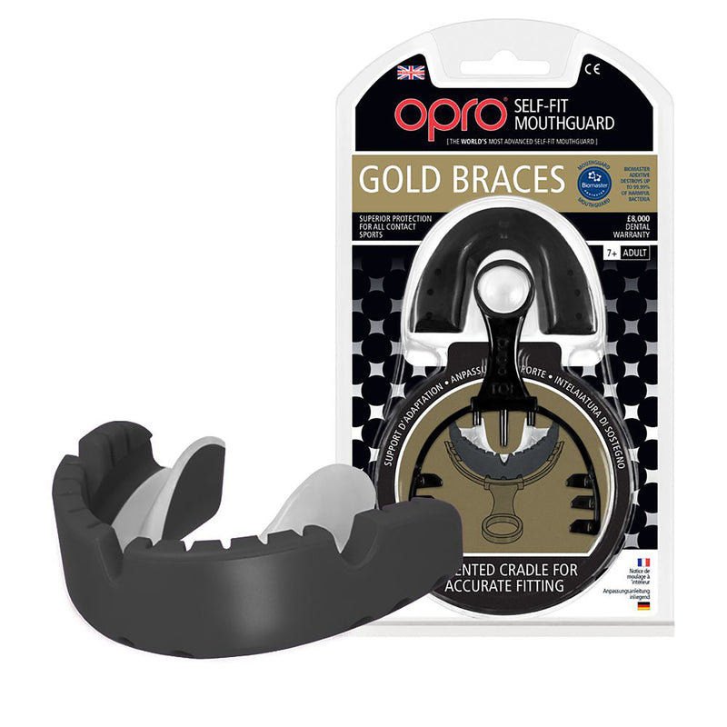 Opro Mouth Guard - Ortho Gold - Black