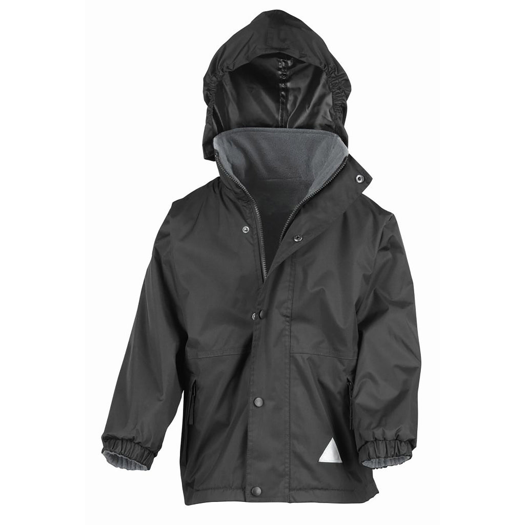 Plain Black Result Kids Storm Stuff Reversible Jacket