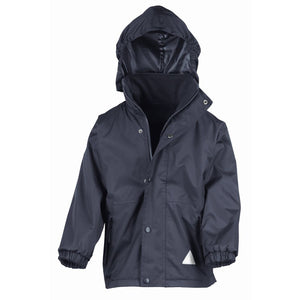 Plain Navy Result Kids Storm Stuff Reversible Jacket