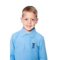 Radlett Prep Long Sleeve Blue Polo Shirt
