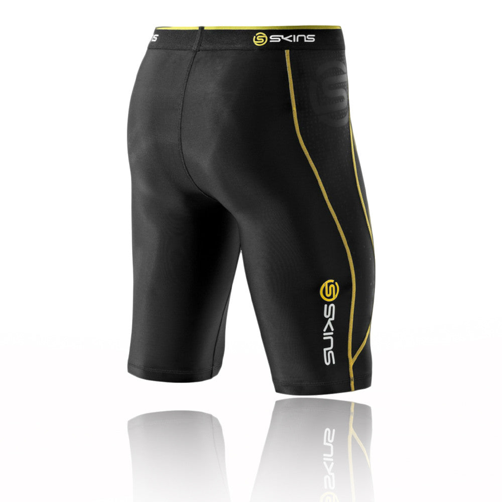 Black Yellow Skins Baselayer Shorts