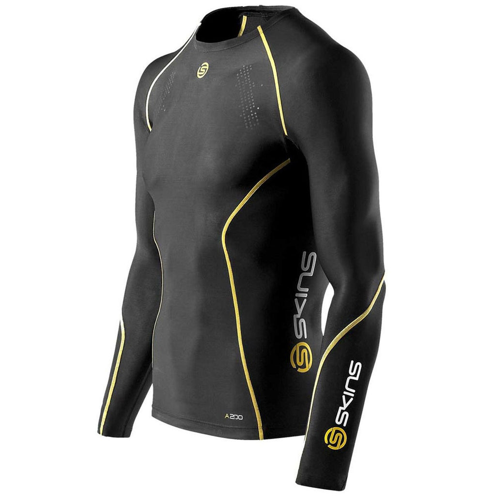 Black Yellow Skins Baselayer Top