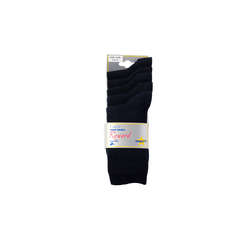 Navy 5 pair pack school socks