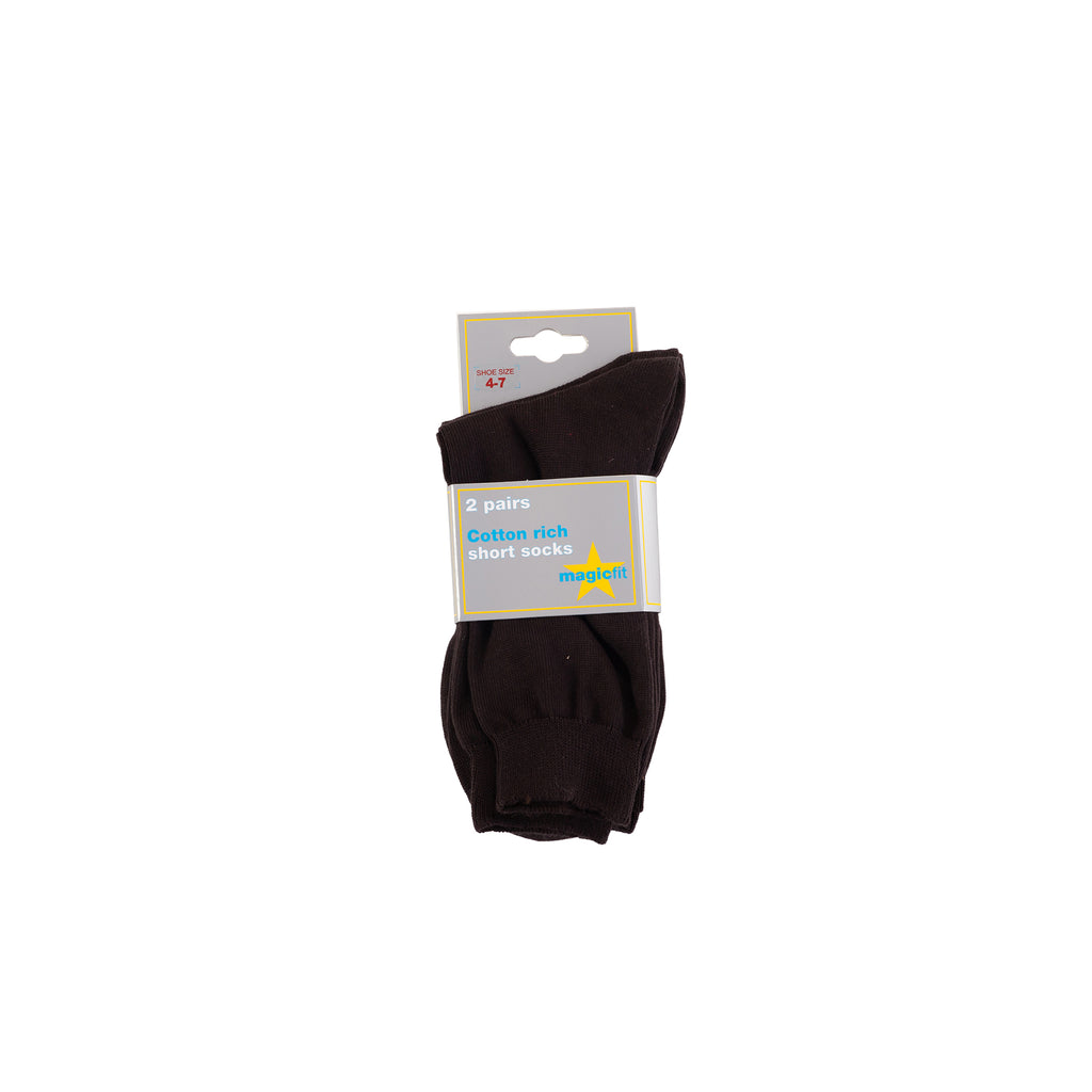 Brown Ankle Twin Pack Socks