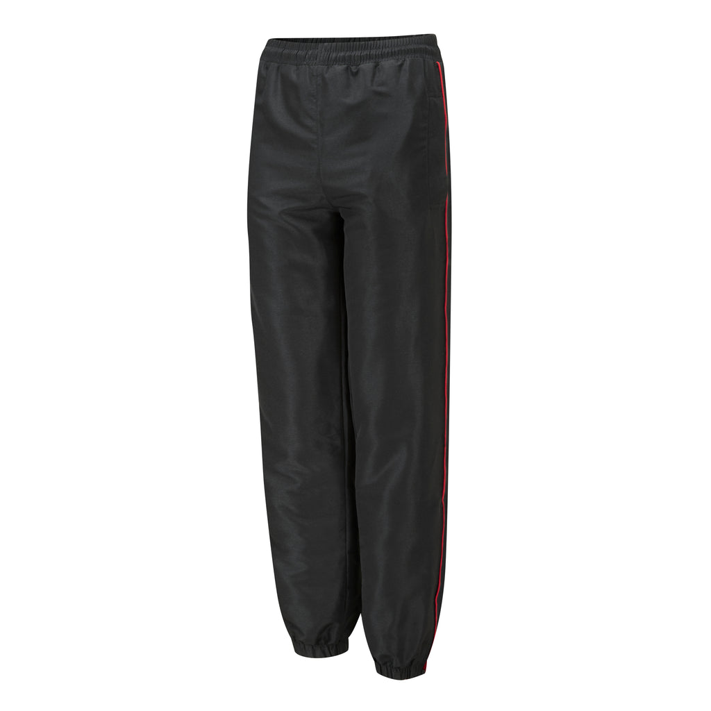 Tracksuit Bottoms Black with Red Piping