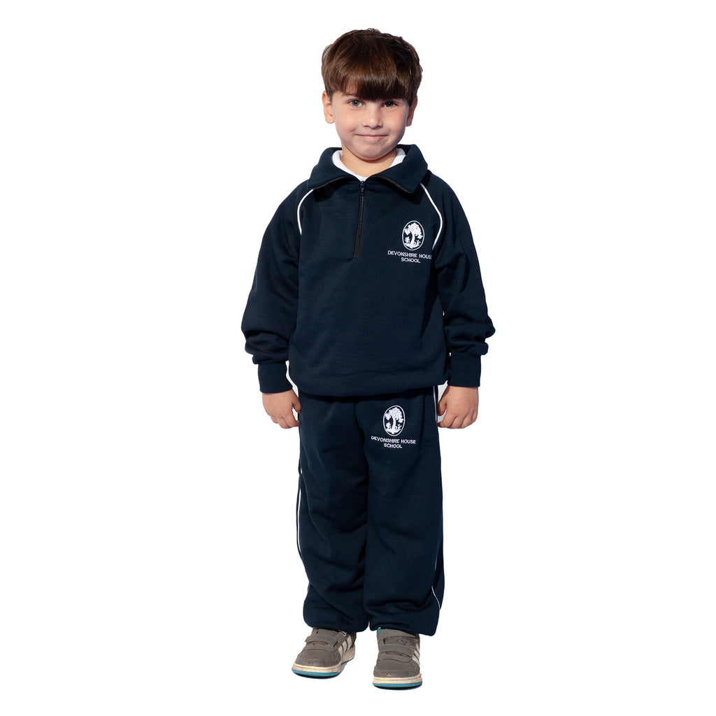 Devonshire House Navy/White Sweat Tracksuit Top
