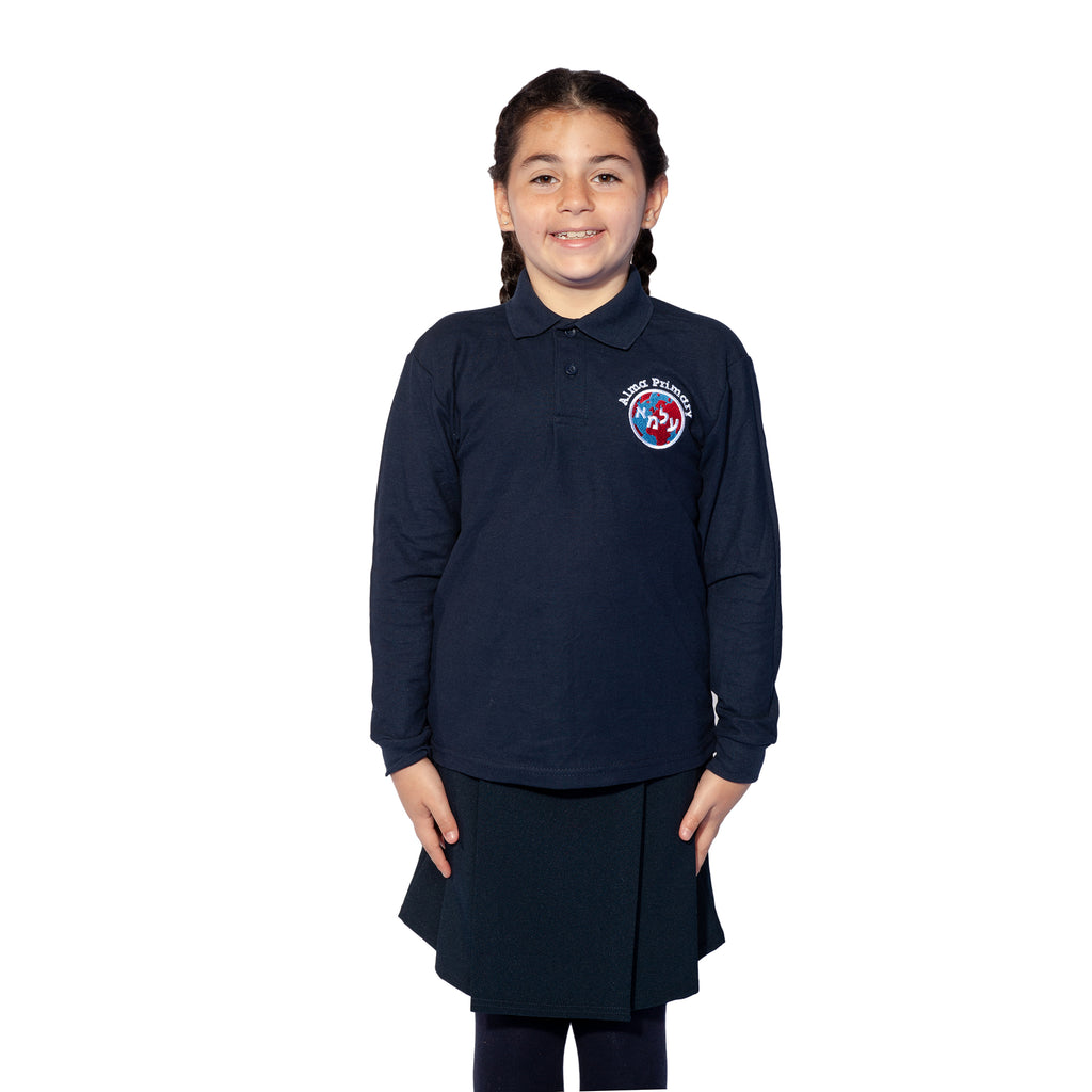 Alma Primary, Whetstone, Long Sleeve Polo Shirt