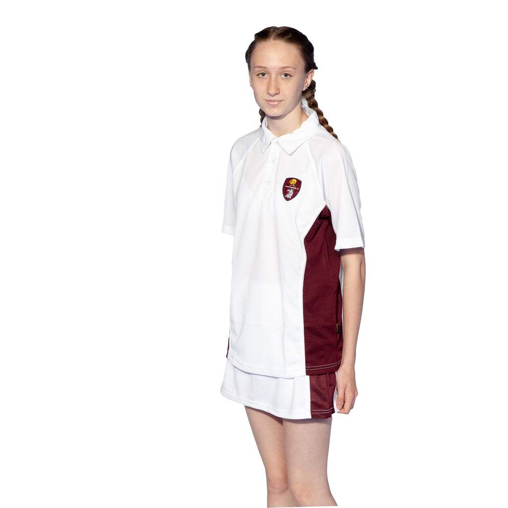 Highgate Tennis Skort White/Maroon