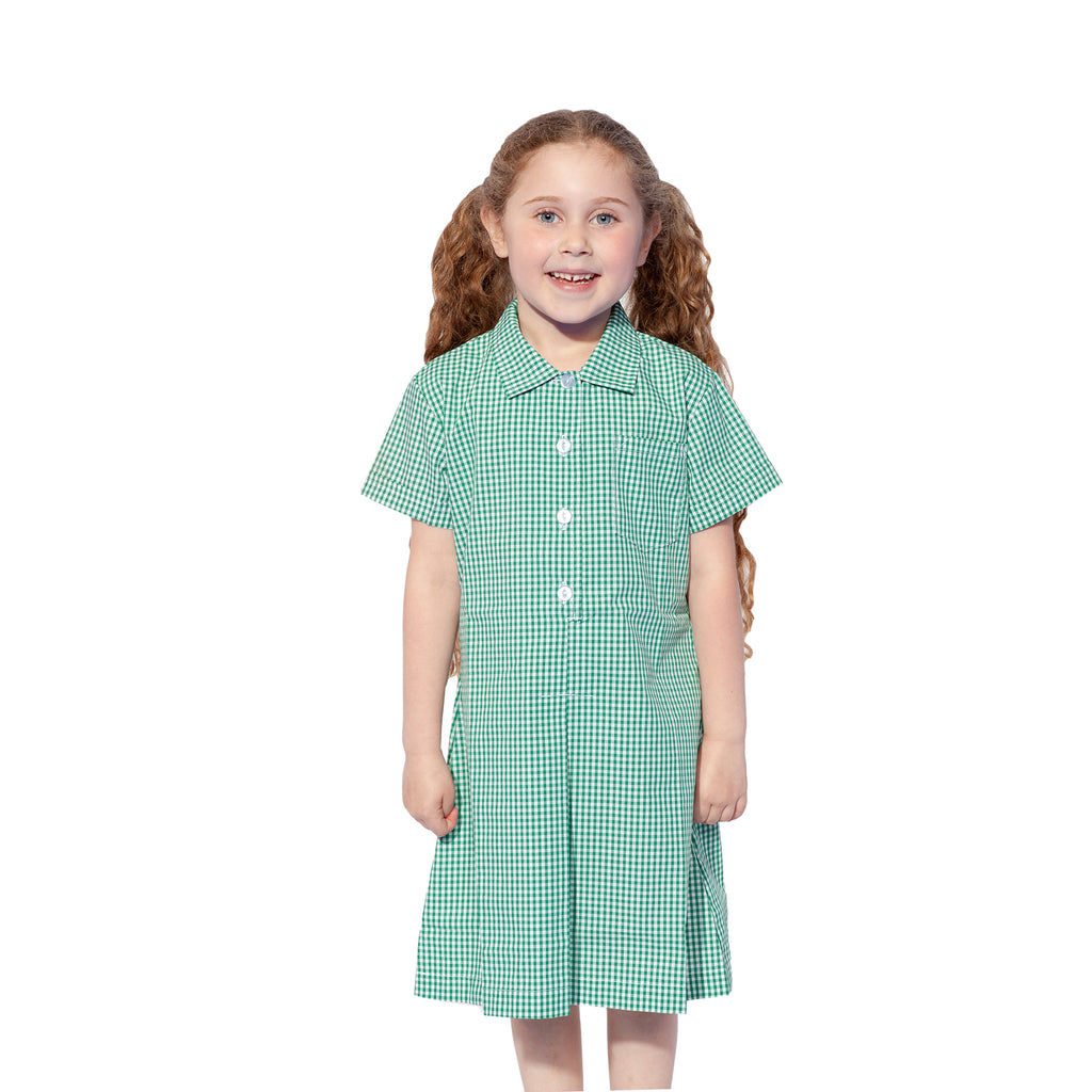 Green Check Summer Dress