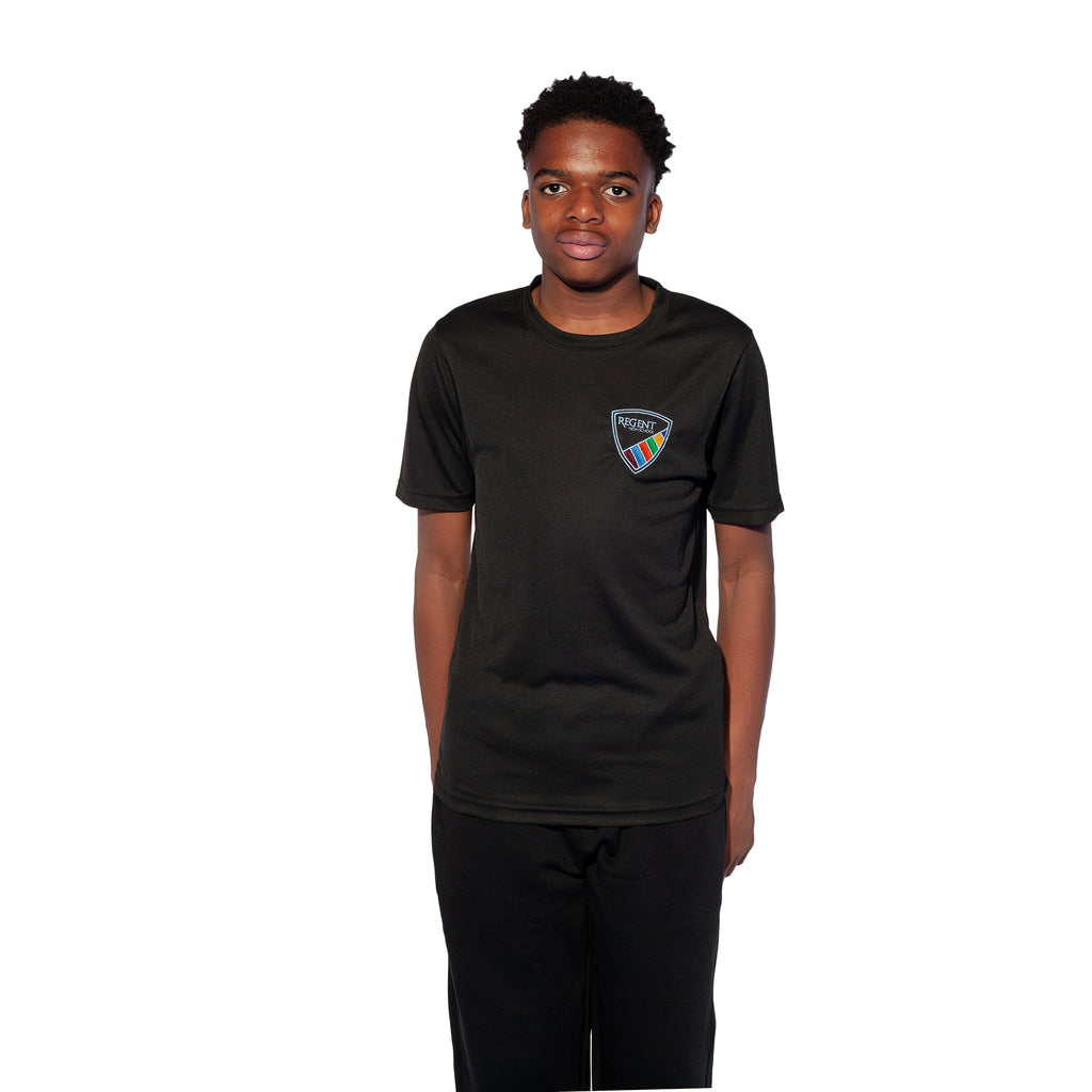 Regent High School Black GCSE/BTEC PE Shirt