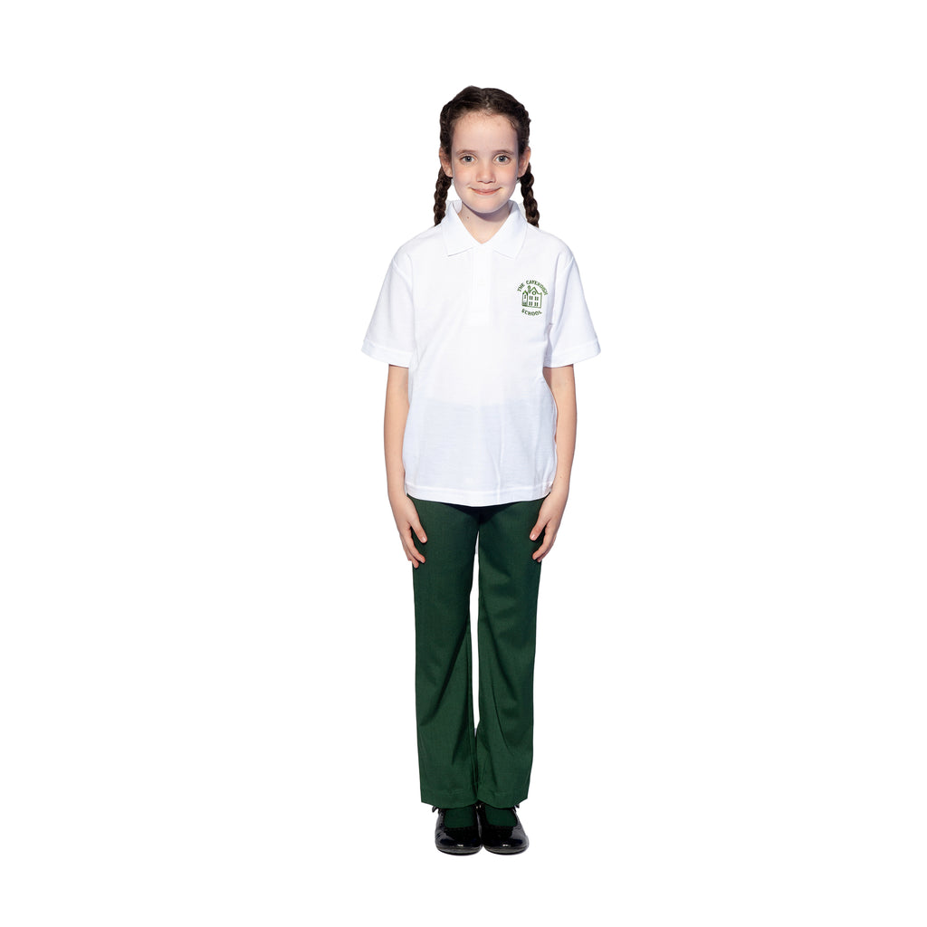Bottle Green Girls Trousers