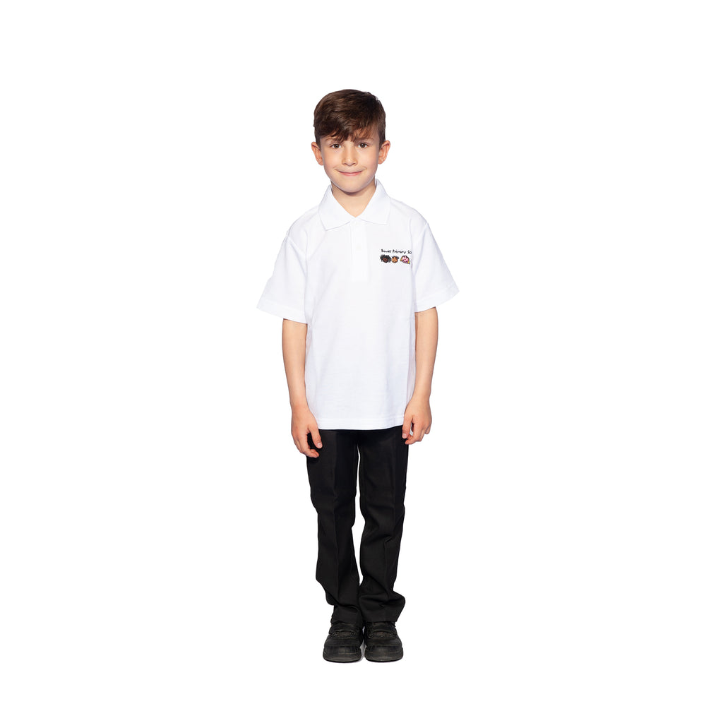 Bowes Primary School White Polo Shirt