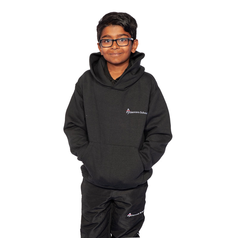Abercorn Black Hooded Top