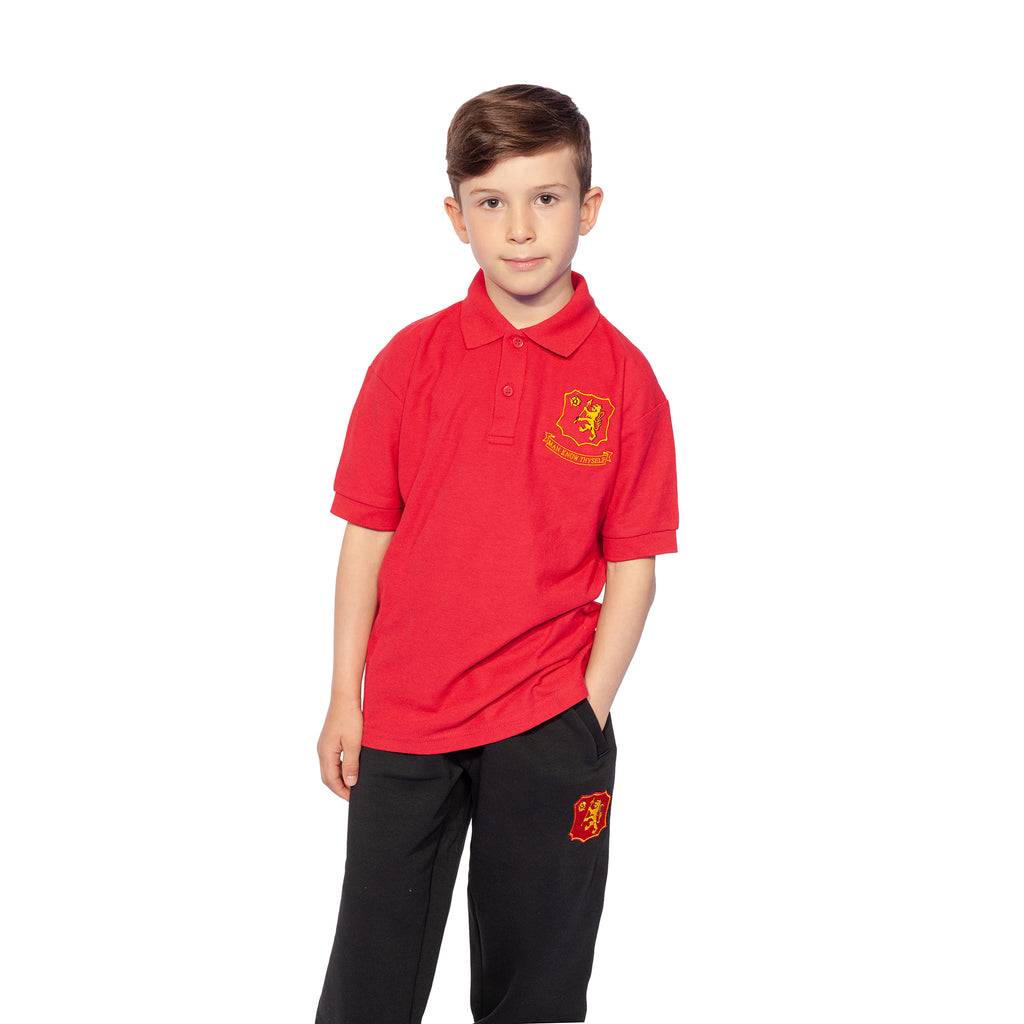 Buckingham Preparatory School Red Polo Shirt