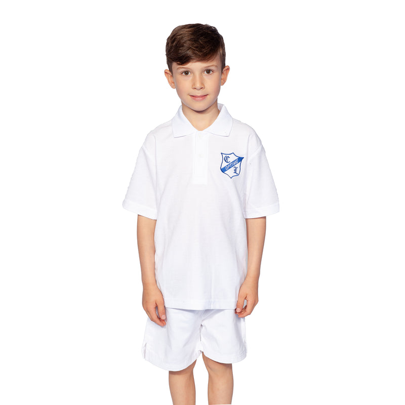 Clifton Lodge White Polo Shirt