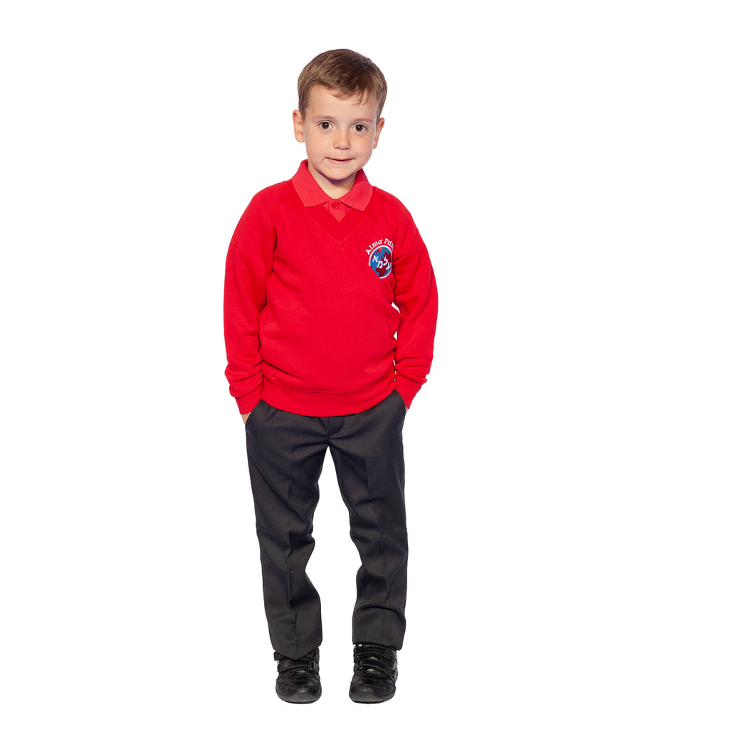 Alma Primary, Whetstone, Vneck Sweatshirt
