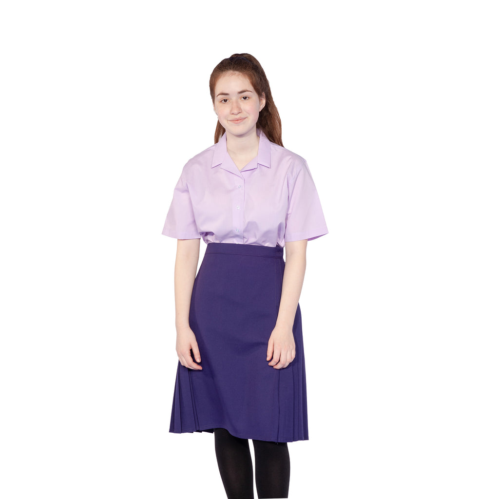 Dark Lilac Short Sleeve Twin Pack Blouse