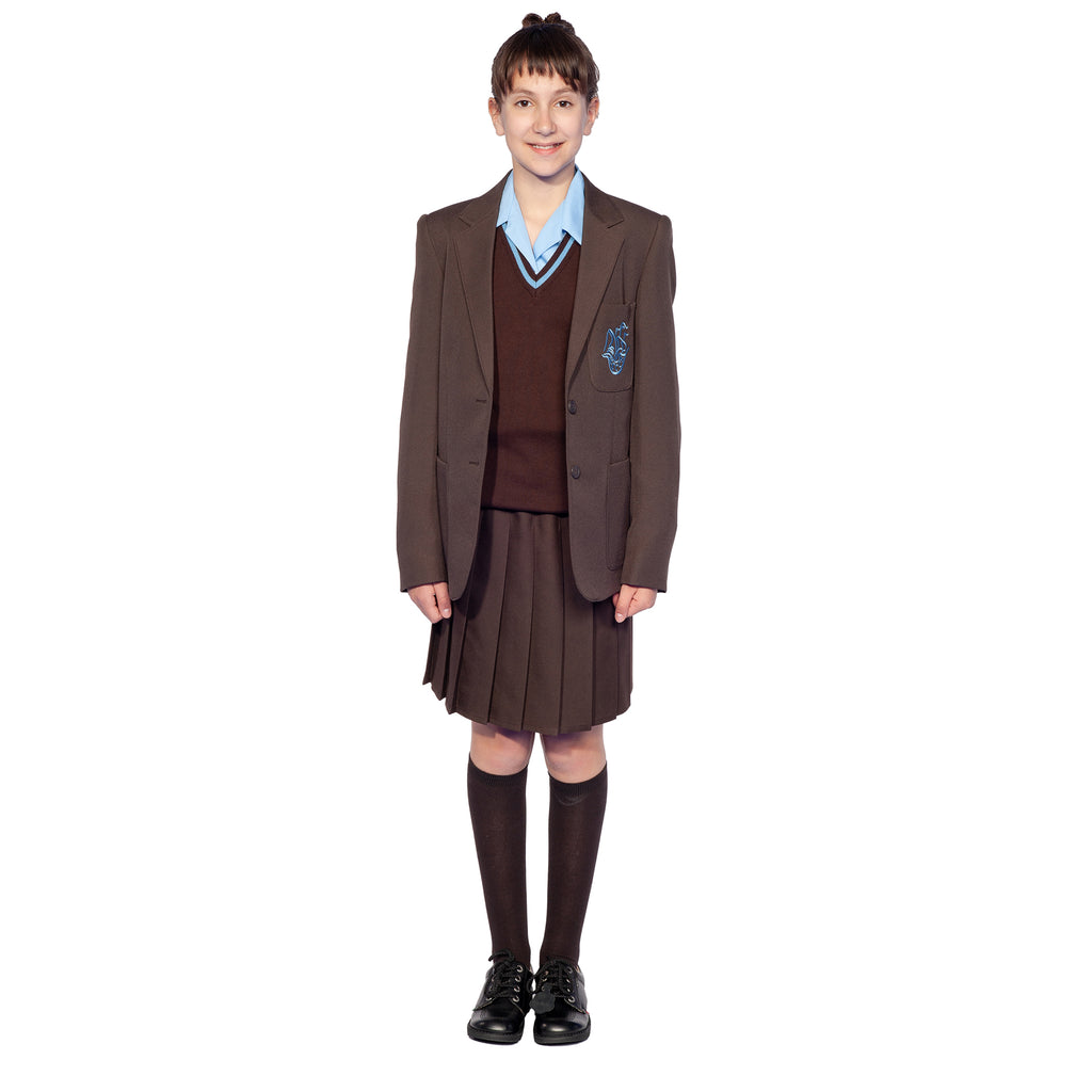 NLCS Brown Pleated Skirt