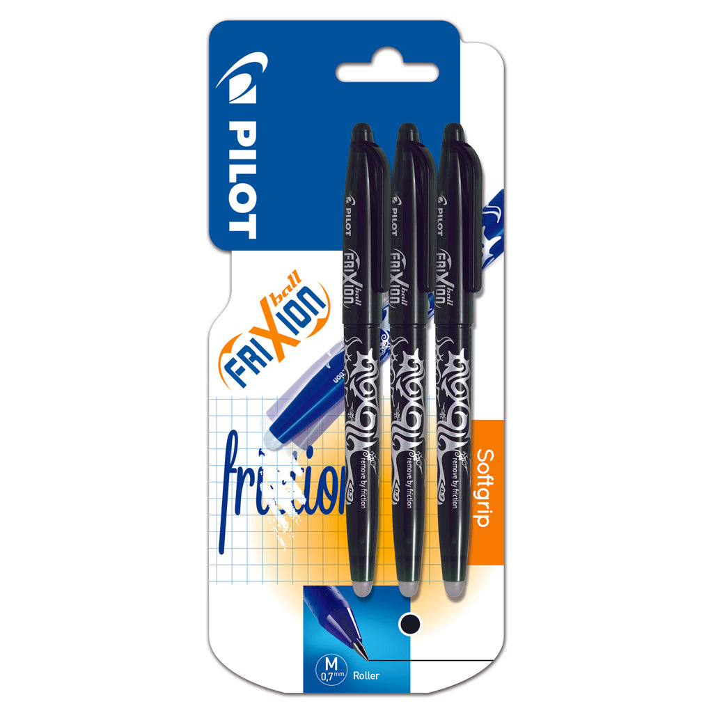 Pilot Frixion Ball Pen - Set2Go - 3 pens - Black x 3