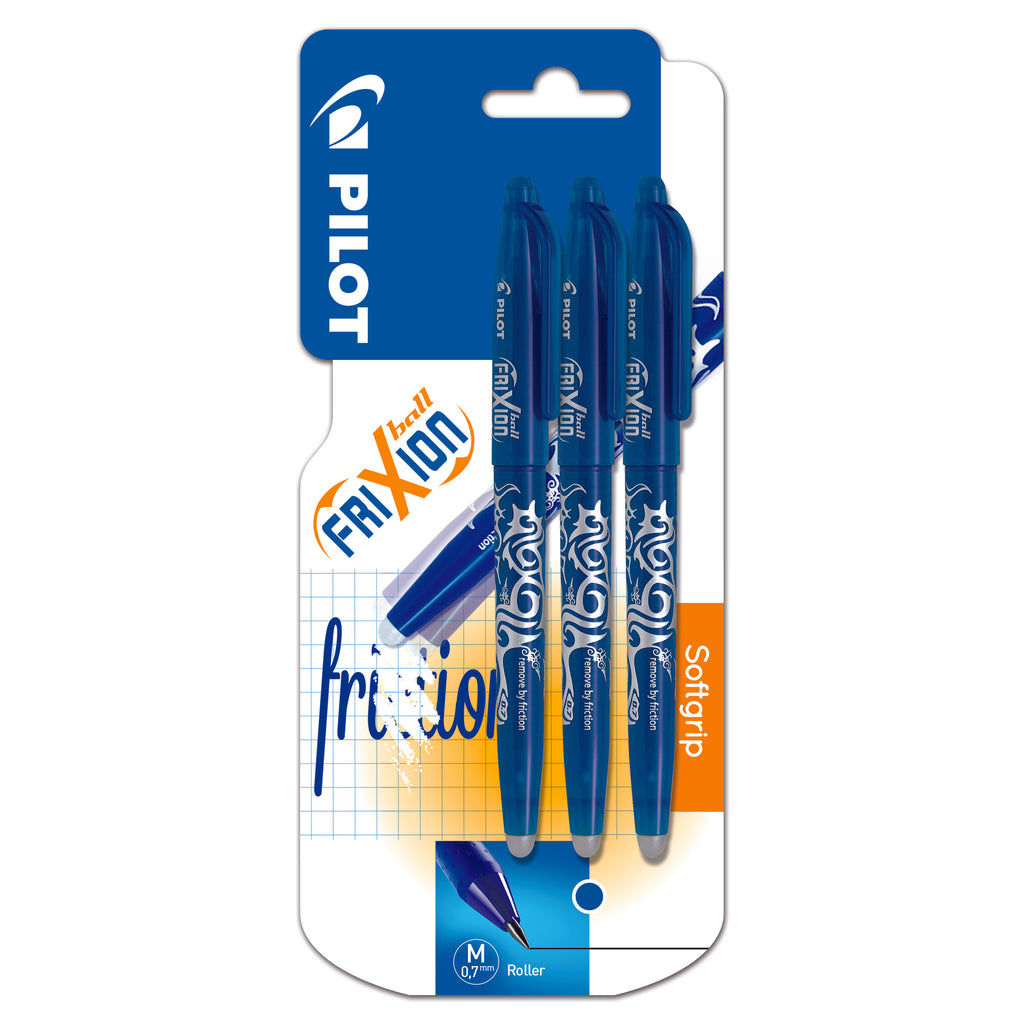 Pilot Frixion Ball Pen - Set2Go - 3 pens - Blue x 3