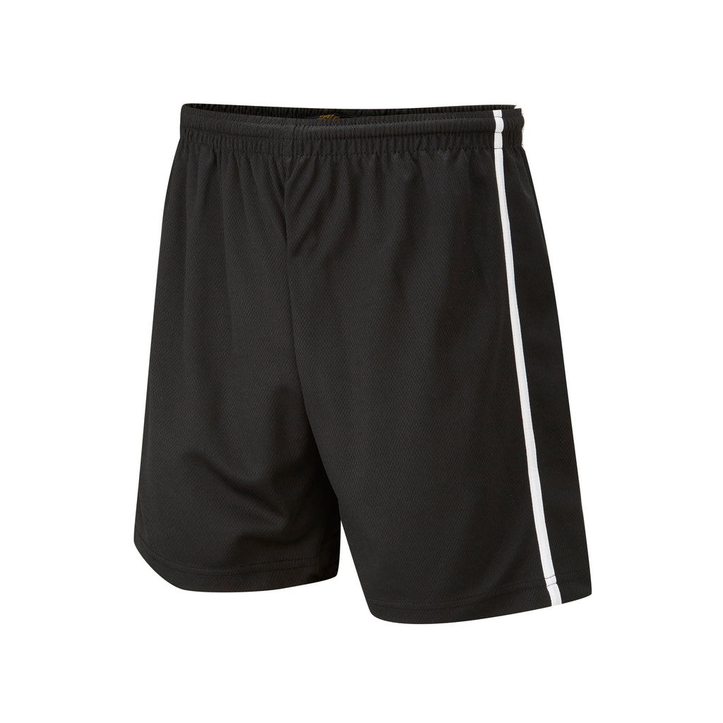 Black/White Panelled Shorts