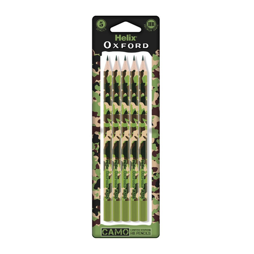 Oxford Camo Pencils 5 pack