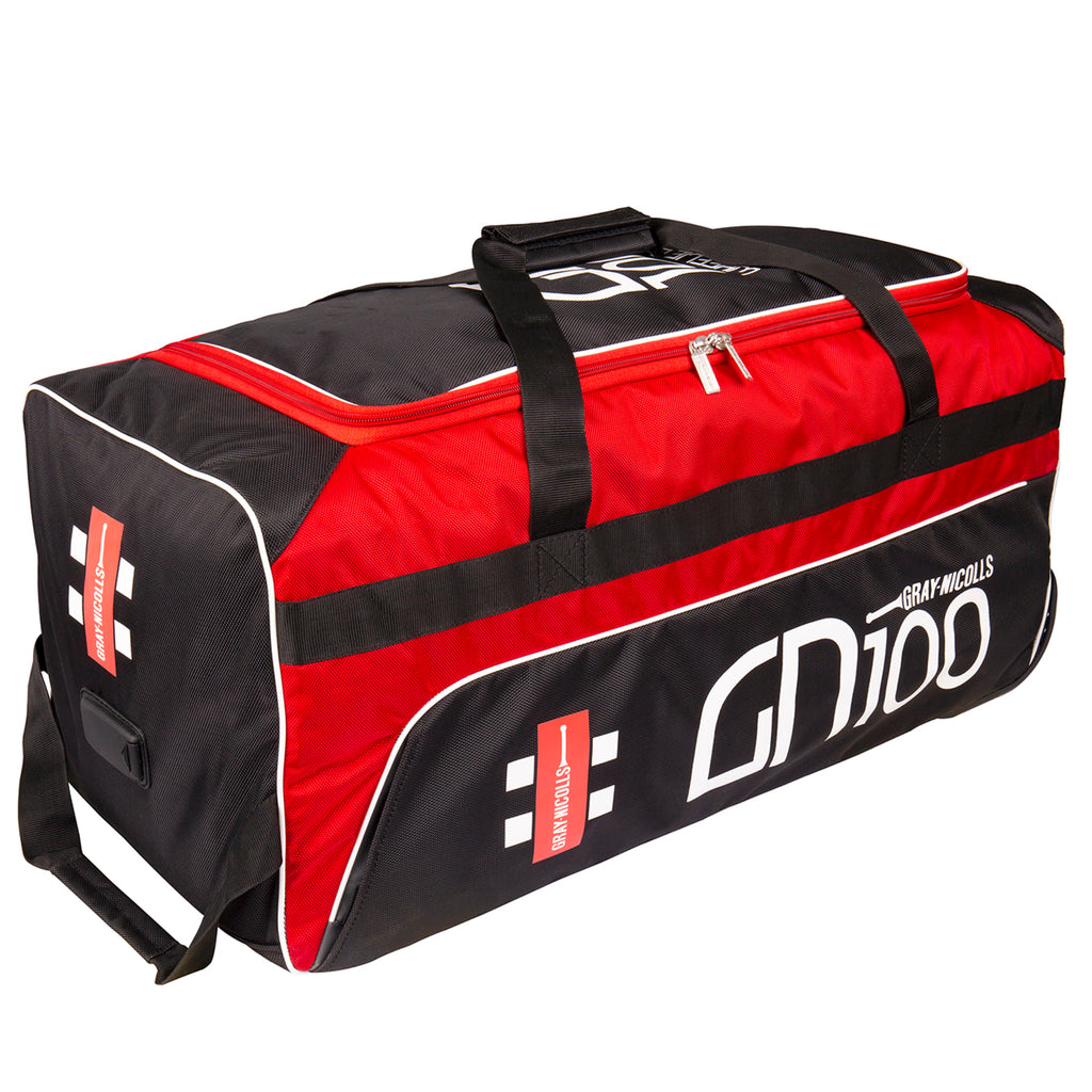GN100 Cricket Holdall Wheelie Bag - Gray Nicolls - Black/Red