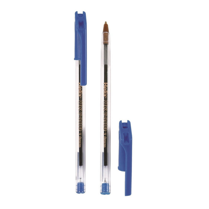 Helix Oxford Pens Ballpoint Stick 6 Pack Assorted