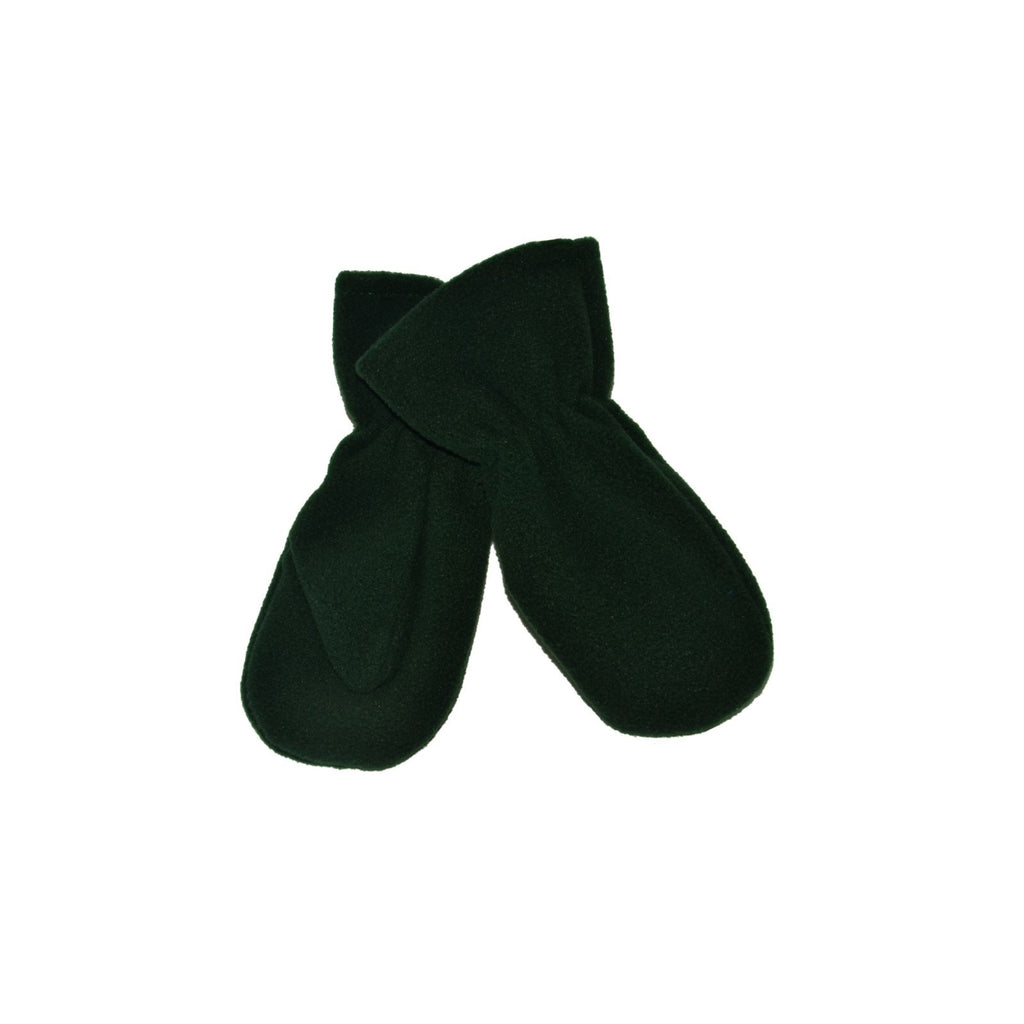 Bottle Green Mitten Gloves