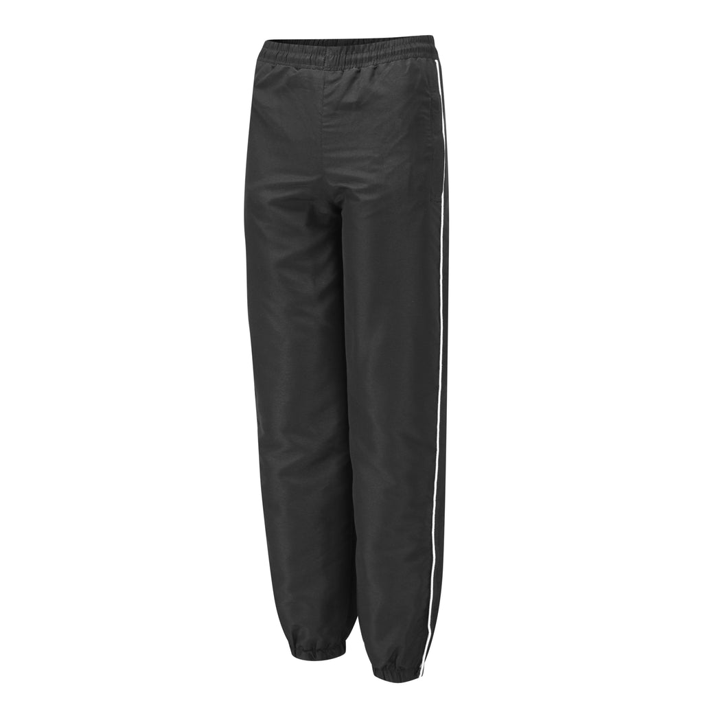 Black Tracksuit Bottoms with White Piping