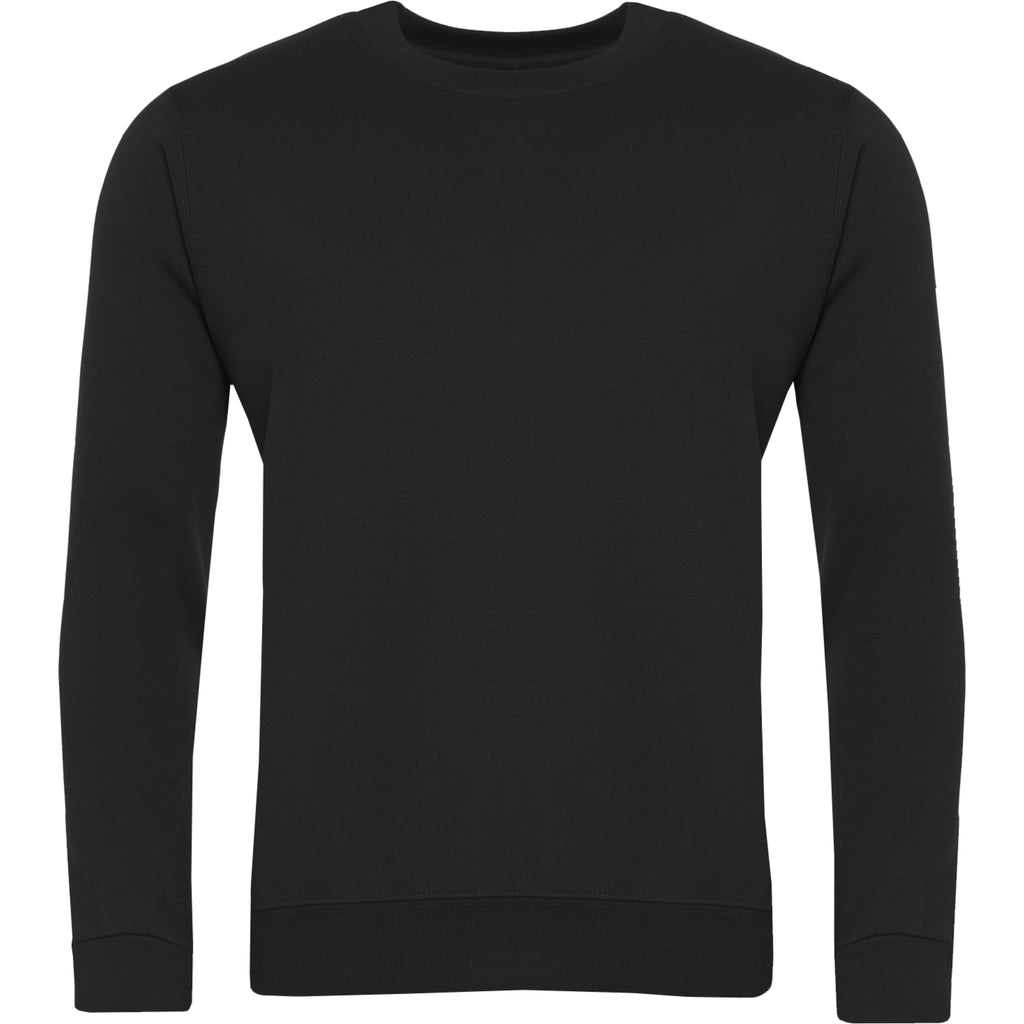 Black Round Neck Sweatshirt
