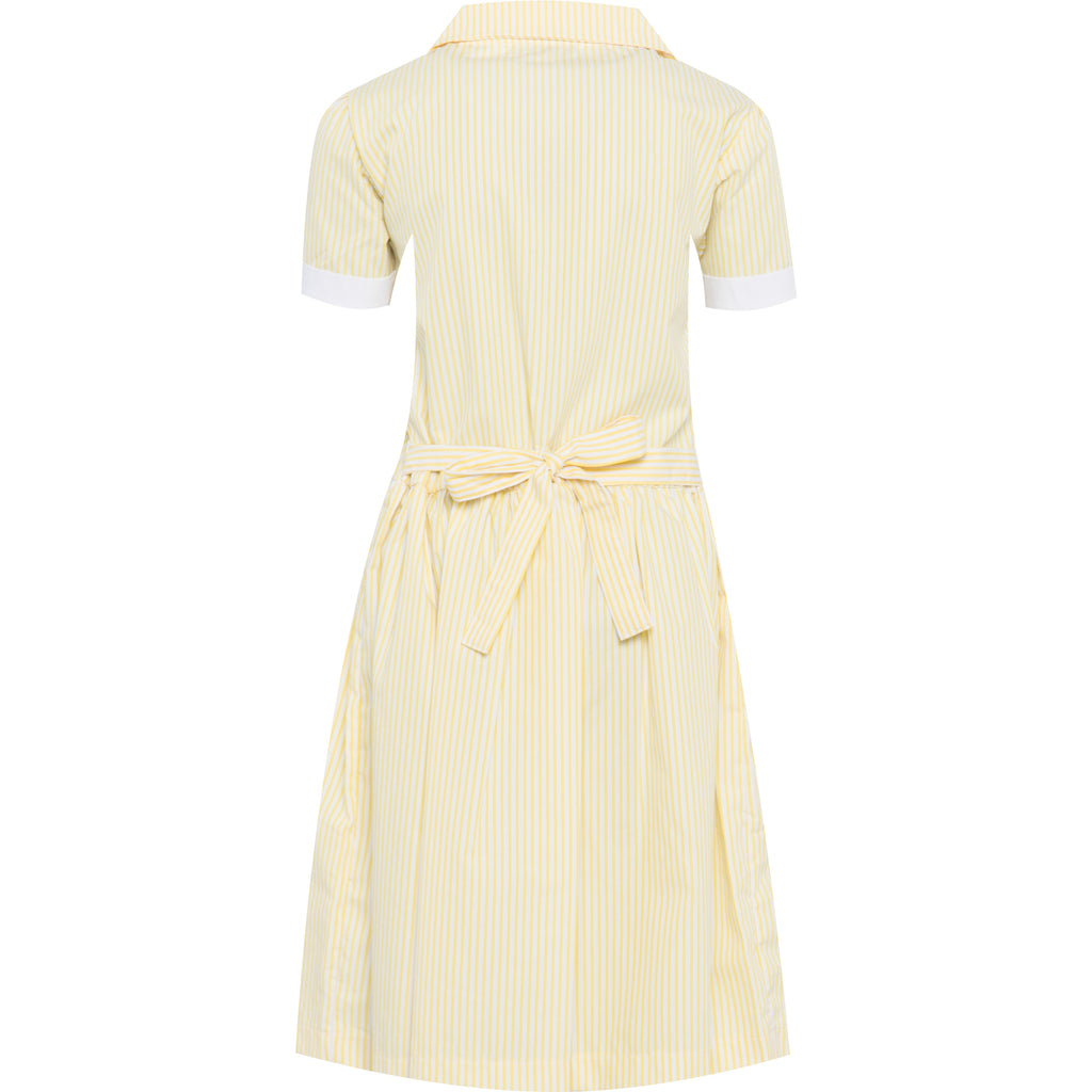Yellow Striped Summer Dress