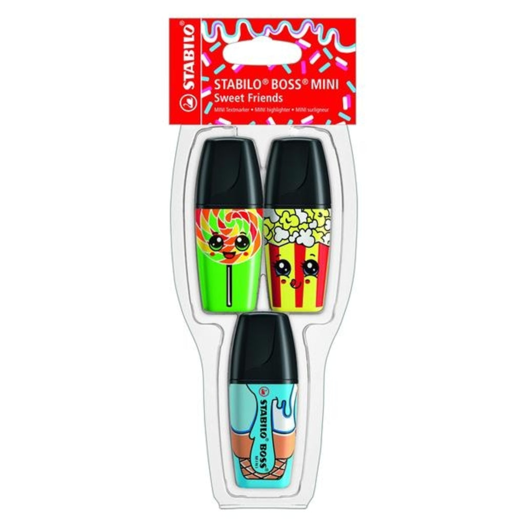 Stabilo BOSS Mini Sweet Friends Highlighters - pack of 3 colour
