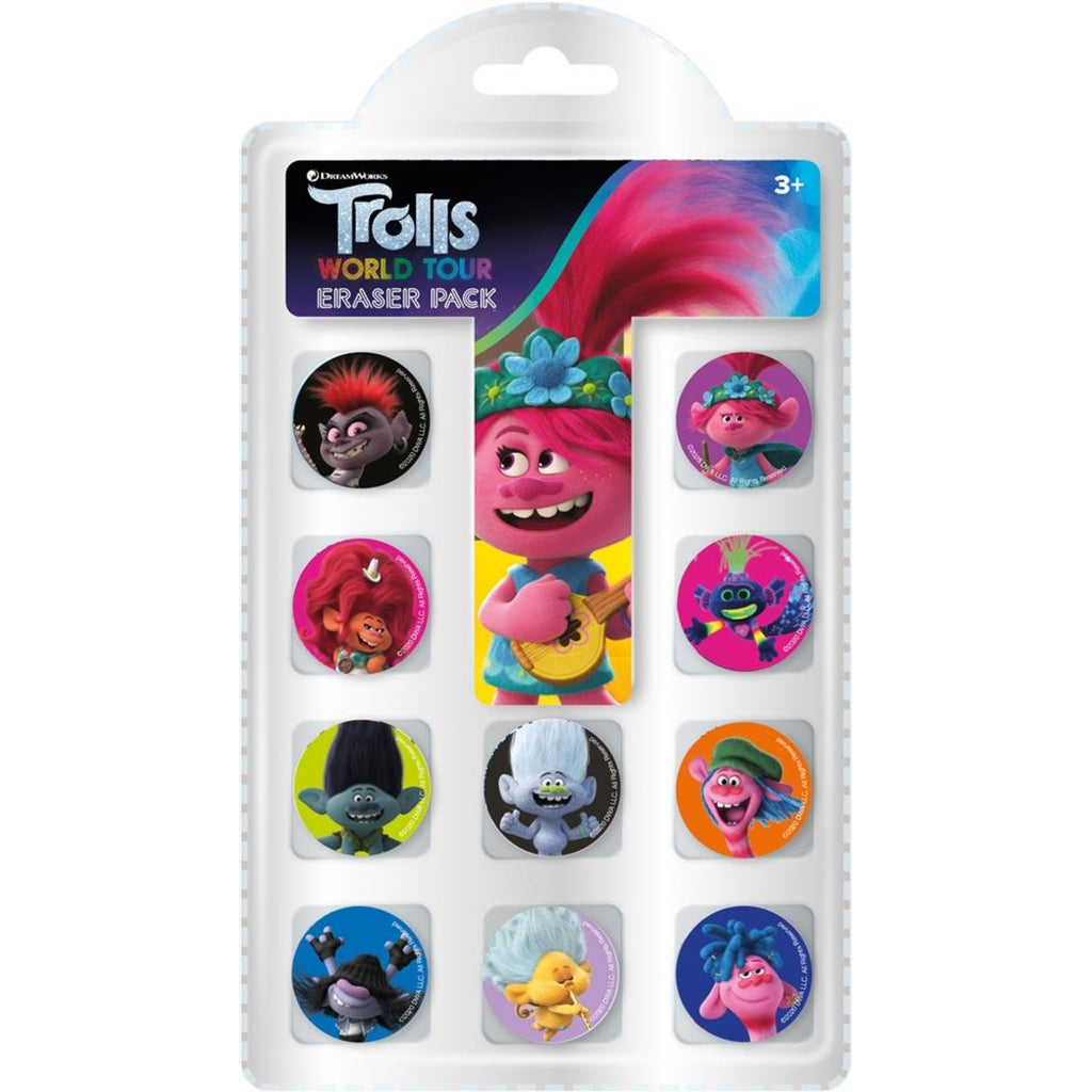 Trolls World Tour 10pk Eraser Set