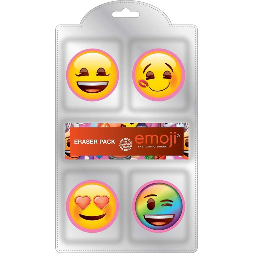 Emoji Female 4pk Eraser Set EFFNE