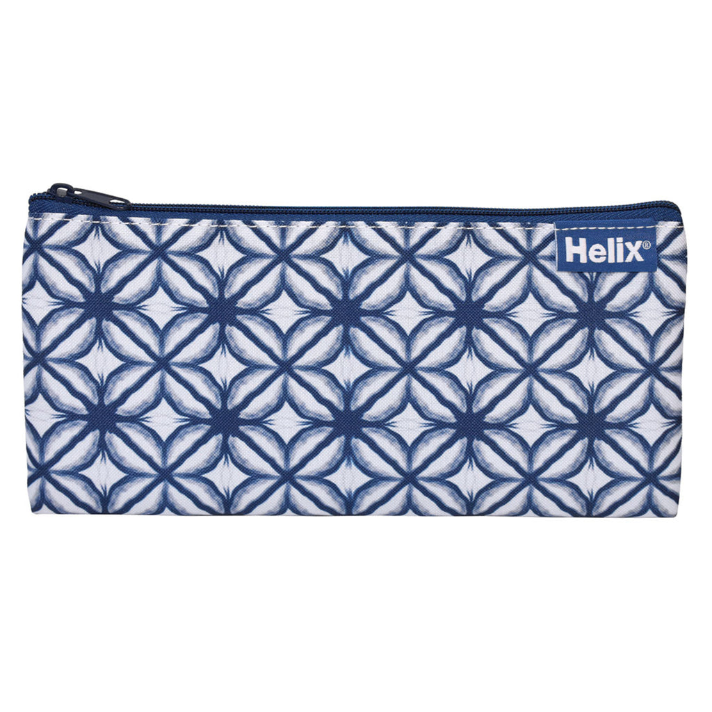 Helix Shibori Pencil Case - Flowers