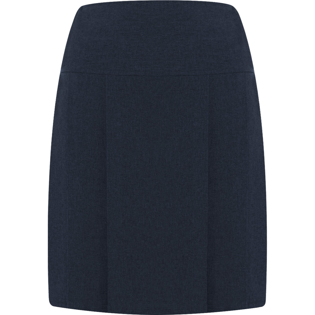 Navy Banbury Pleated Skirt