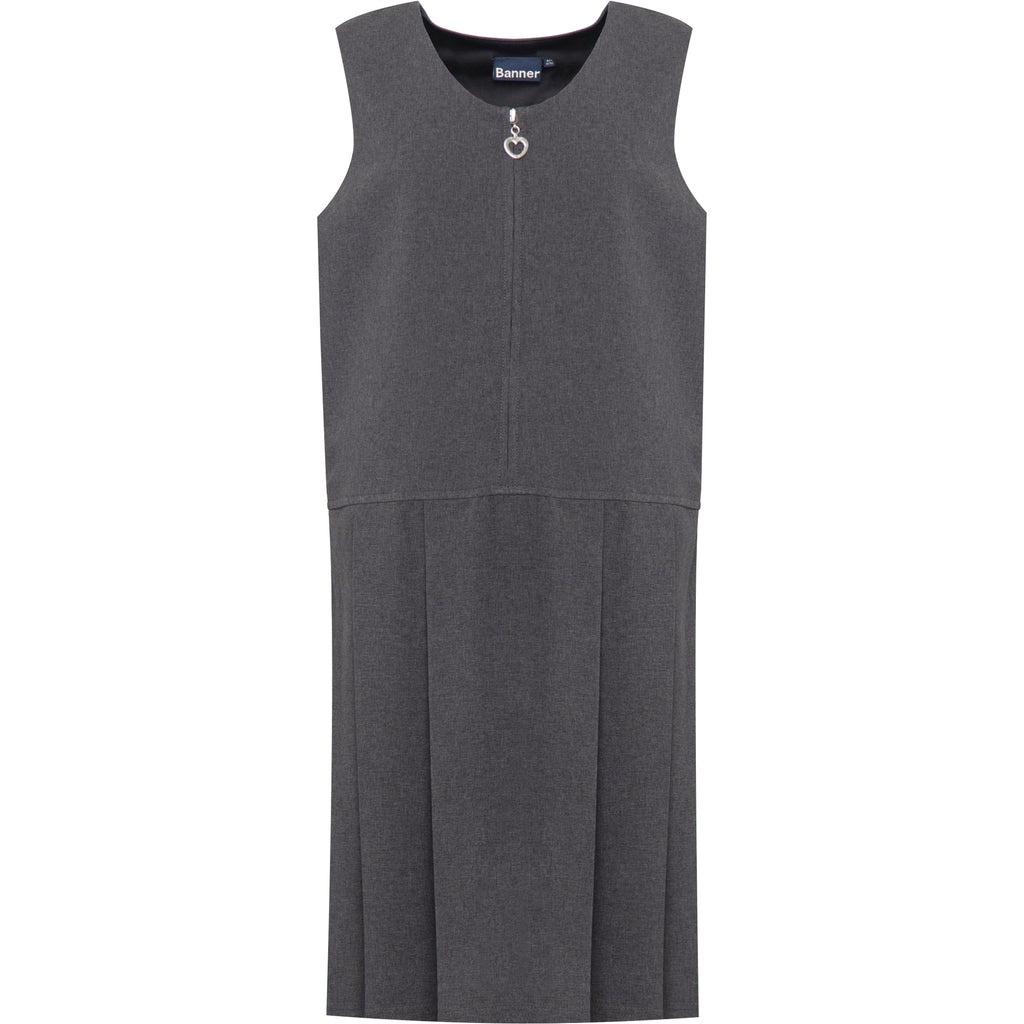 Grey Lynton Pleated Pinafore