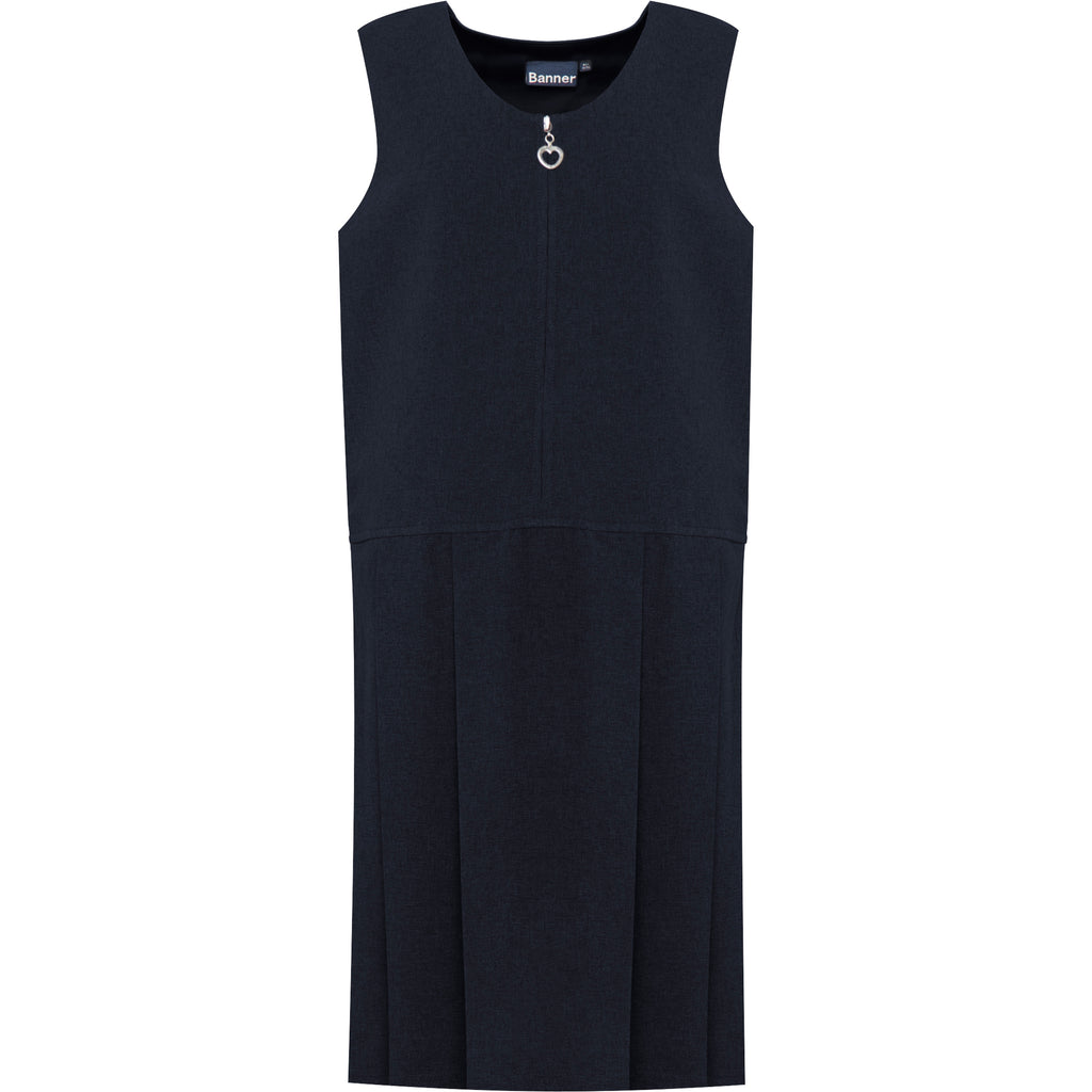 Navy Lynton Pleated Pinafore