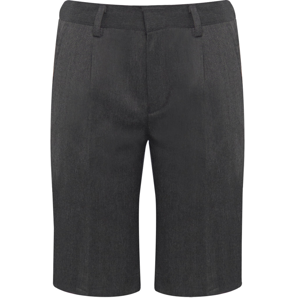 Grey Unlined Bermuda Shorts