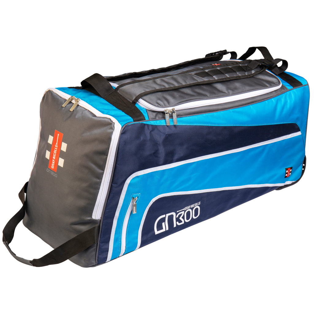 GN300 Cricket Holdall Wheelie Bag - Gray Nicolls - Grey/Blue
